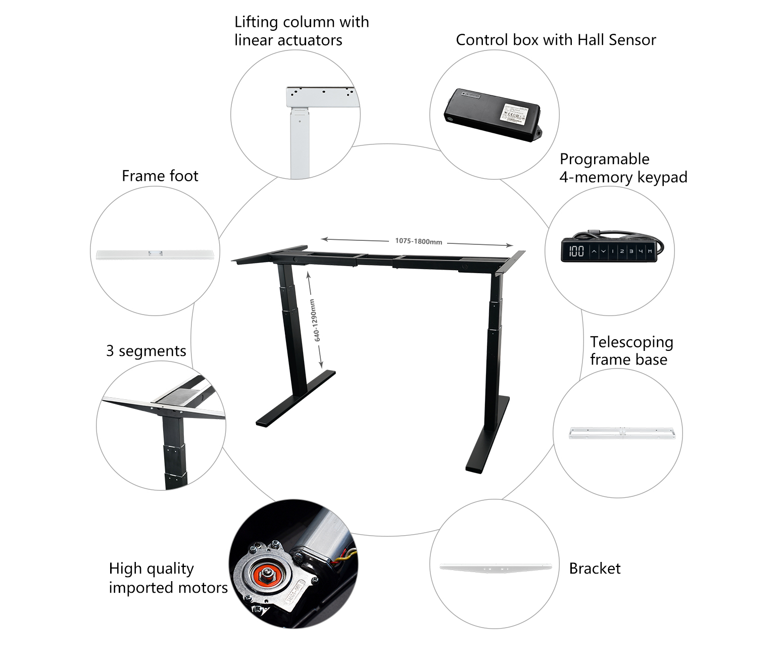 Electric Standing Desk Manufacturer Height Adjustable Desk